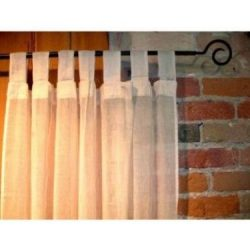 Puresilks 100% Cotton Gauze Tab Curtain, 44 inches X 108 inches