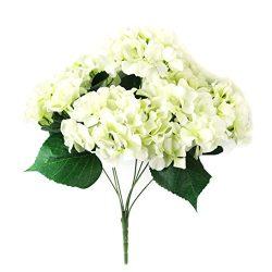 Wensltd 7 Heads Flower for Wedding Ceremony Decorated Artificial Hydrangea Silk Decor (Green) (W ...
