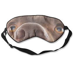 Labrador Dog Sleep Eye Mask 100% Mulberry Silk Blindfold Travel Sleep Cover Eyewear