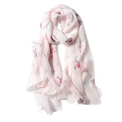 STORY OF SHANGHAI Womens 100% Mulberry Silk Head Scarf For Hair Ladies Floral And Butterfly Scar ...