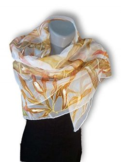 TROPICAL SUMMER Hand-Painted Silk Scarf