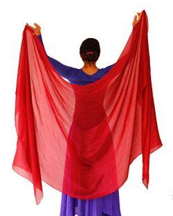 Nahari Silks 100% Silk Red 108″