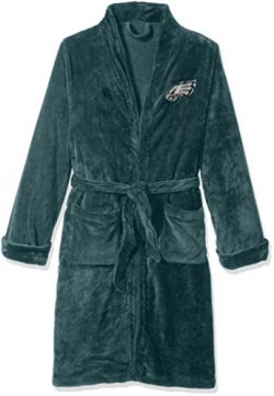 Officially Licensed NFL Philadelphia Eagles Men's Silk Touch Lounge Robe, Large/X-Large