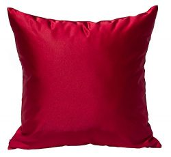TangDepot Solid Silky Throw Pillow Covers, Shining and Luxury Cushion Covers, Square Decorative  ...