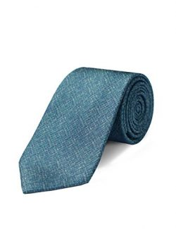 ORIGIN TIES Men's Fashion 100% Silk Solid 3 inches Standard Tie Green