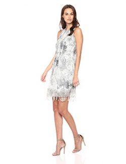 Elie Tahari Women's Anabelle Dress, Antique/Grey, 4