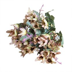 Artificial Flowers Clearance, Paymenow 25 Head Silk Fake Flowers Chrysanthemu Wedding Bouquet Br ...