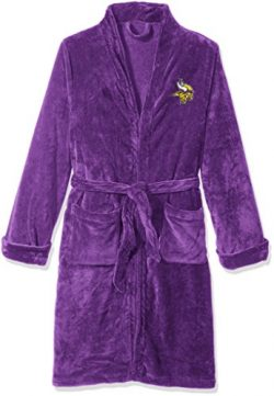 Officially Licensed NFL Minnesota Vikings Men's Silk Touch Lounge Robe, Large/X-Large