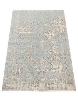 Soft Natural Turkish Viscose from %100 Bamboo Silk Area Rug Santa FE Collection by Benissimo, Co ...