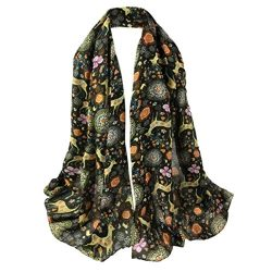 Sumen 2018 New Red Poppy Printing Long Scarf Flower Beach Wrap (2018 New-Army Green)