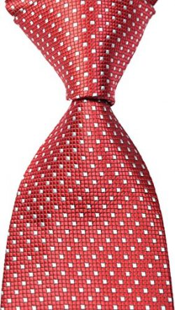 EXT Collectino New Classic Checked Dot Fashion Elegant Formal Business Tie JACQUARD WOVEN Men ...