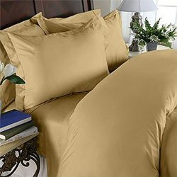 Egyptian Bedding Rayon from BAMBOO Sheet Set – King Size Gold 1200 Thread Count Cotton She ...