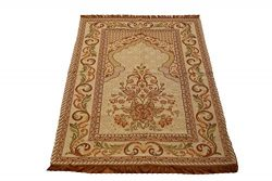 Islamic Goblen Silk Brocades Islamic Prayer Rug Janamaz Sajjadah Muslim Namaz Seccade Turkish Pr ...