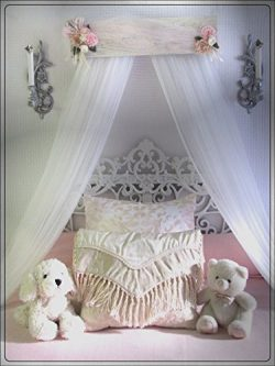 Victorian design Barn wood Shabby Chic Bed bedroom CriB canopy rustic decor custom burlap lace p ...