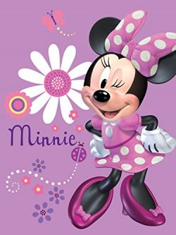 Silk Touch Sherpa Twin Blanket Disney and Marvel Designs 60″x80″ (Minnie wink)