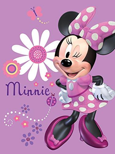 Silk Touch Sherpa Twin Blanket Disney and Marvel Designs 60″x80″ (Minnie wink)
