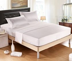 DelbouTree Silky Soft Solid Matte-Satin Bed Sheet Sets Shiny-Free,Deep Pocket Queen 4 Pieces, Ivory