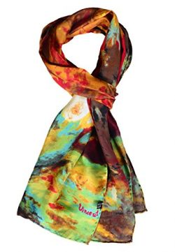 Salutto Women 100% Silk Scarves Monet Painted Scarf (20)