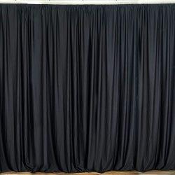BalsaCircle 10 feet x 10 feet Black Polyester Backdrop Drapes Curtains Panels – Wedding Ce ...