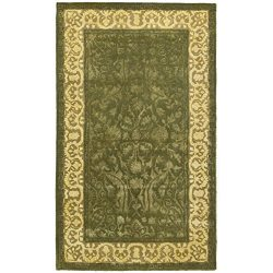 Safavieh Silk Road Collection SKR213A Handmade Spruce and Ivory New Zealand Wool Area Rug (4&#82 ...
