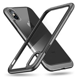 ESR iPhone X Case, Heavy Duty Armor with Flexible Cushion [Reinforced Camera Protection] [Glass- ...