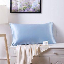 "SLPBABY Silk Pillowcase for Hair and Skin with Hidden Zipper Print (Standard(20""x26"" ..."