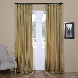Half Price Drapes PTS-SLK702A-108 Faux Silk Taffeta Stripe Curtain, 50 X 108, Riviera