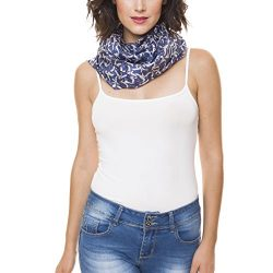 Scarf for Women 100% Silk Spring Winter by Melifluos Fashion Large Lightweight Blue Navy Seagull ...