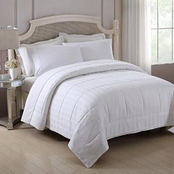 Fresh Ideas All Season Silk Comforter – Lightweight, Breathable Bedding With Quilted Cotton Cove ...