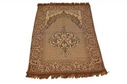 Islamic Quality Goblen Silk Brocades Islamic Prayer Rug Janamaz Sajjadah Muslim Namaz Seccade Tu ...