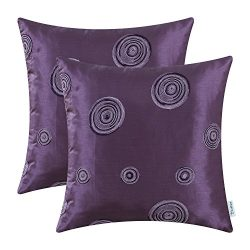 Pack of 2 CaliTime Cushion Covers Throw Pillow Cases Shells for Home Sofa Couch 18 X 18 Inches,  ...