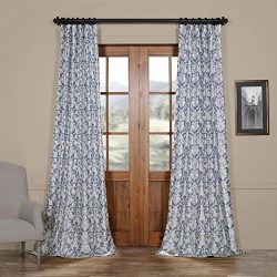 Half Price Drapes Ptpch-170806A-108 Rococo Printed Faux Silk Taffeta Blackout Curtain, 50 x 108, ...