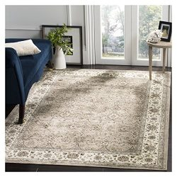 Safavieh Atlas Collection ATL672T Silver and Ivory Oriental Viscose Area Rug (8′ x 10′)