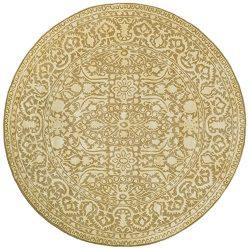Safavieh Silk Road Collection SKR213C Handmade Ivory New Zealand Wool Round Area Rug (6′ D ...