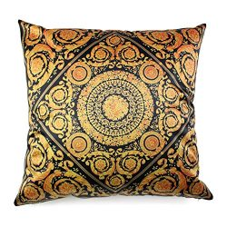 Living Room Sofa Chair Decorative Satin Silk Throw Pillow Cases Cushion Cover Gold