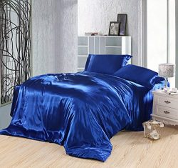 Pure Enjoyment Royalblue Luxury Bedding Silk Bedding, Full/Queen Size