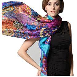Novels-wear 2017new 100%mulberry Silk Scarf Wrap Luxury Wheels Print