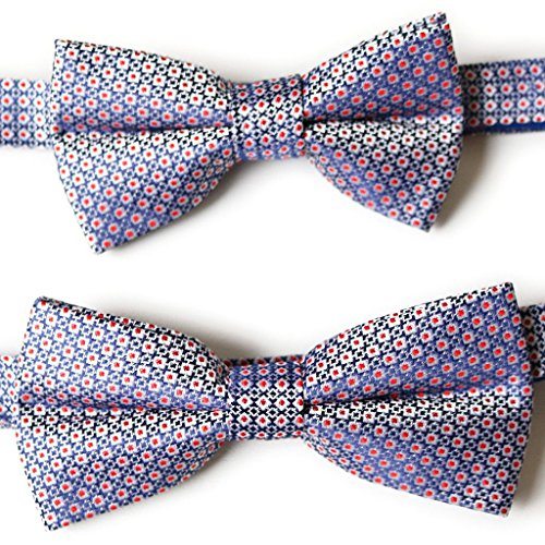 Dan & Daddy / Set Of Two, Father And Son, Brothers, Pair Bow Ties 100% Silk Bow Ties