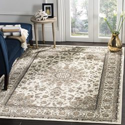 Safavieh Atlas Collection ATL668S Ivory Oriental Viscose Area Rug (8′ x 10′)