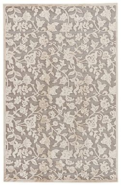 Jaipur Living Lucie Floral & Leaves Gray/Silver Area Rug (2′ X 3′)