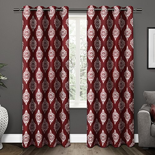 Exclusive Home Curtains Medallion Thermal Blackout Grommet