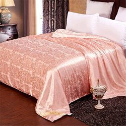 YUAKOU Natural Handmade MulBerry Silk Filled Duvet Silk Duvet Quilt Silk Comforter for All Seaso ...