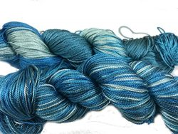 Mulberry Silk 3-ply hand Tie and Dyed yarn (50 Grams, 260+ yards) | Silk Yarn for Knitting, Weav ...