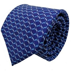 Qobod Classic Men's 100% Silk Tie Necktie Woven JACQUARD Neck Ties gift box (ST050 BLUE SK ...