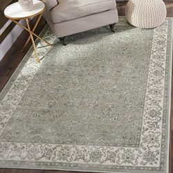 Safavieh Persian Garden Collection PEG613W Traditional Silver and Ivory Viscose Area Rug (6̵ ...