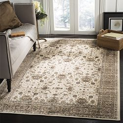 Safavieh Atlas Collection ATL671D Ivory and Taupe Oriental Viscose Area Rug (8′ x 10′)