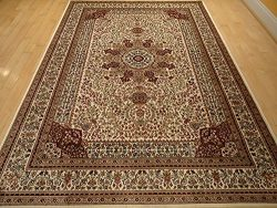 Silk Area Rugs 8×11 Living Room Rugs 8×10 Ivory Cream Rug Traditional Rugs High End Na ...
