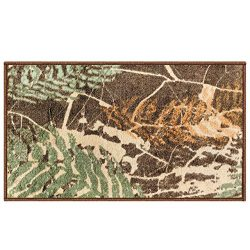 Silk & Sultans Agathe Collection Vintage Green Design, Pet Friendly, Non-Slip Doormat with R ...