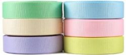 Hipgirl 30 Yards 3/8″ Grosgrain Fabric Ribbon Set For Gift Package Wrapping, Hair Bow Clip ...