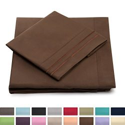 Full Size Bed Sheets – Chocolate Luxury Sheet Set – Deep Pocket – Super Soft H ...